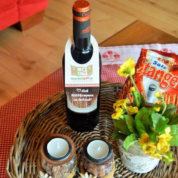 Willkommensgruß in Ihrem Ferienhaus im Sauerland